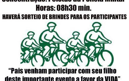 """""""Juventude de Bem com a Vida"""" o tema do 6º Passeio Ciclístico que vai ser realizado no próximo domingo"""