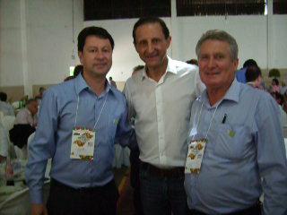 Da esquerda para direita Jr. Palmeirense, Paulo Skaf e Bras Rochel