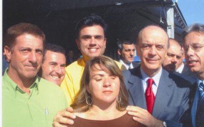 Junho de 2008: PSDB coliga-se com PV e Roseli Paulino é cogitada para a vice com o candidato Calá