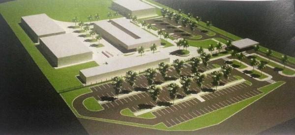 Imagem mostra como ficará o campus depois de concluído
