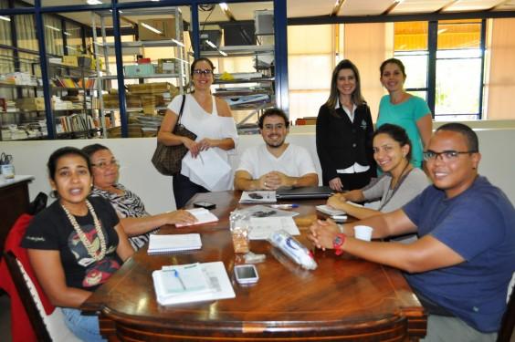Os parceiros Patrícia, Jicélia, Francine, Thiago, Alessandra, Andréia, Anna Carolina e Tiago.