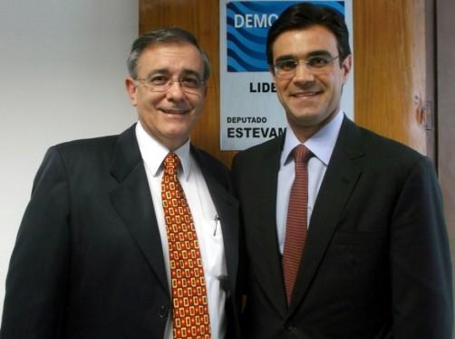 Vereador José Crespo (DEM) e o secretário estadual Rodrigo Garcia