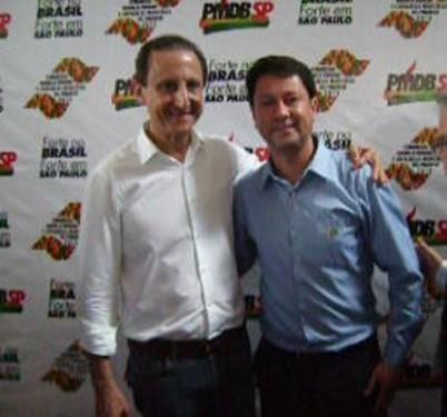 Jr. Palmeirense e Paulo Skaf no dia 19 de setembro no Congresso do PMDB em Tatuí.
