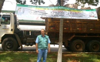 Prefeitura de Itapeva realiza campanha para coletar embalagens de agrotóxicos