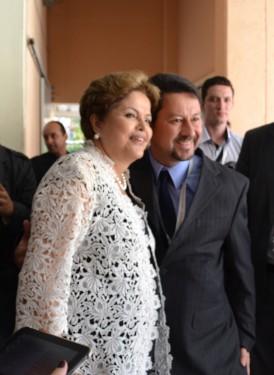 Jr. Palmeirense e Dilma Roussef no Congresso da Facesp