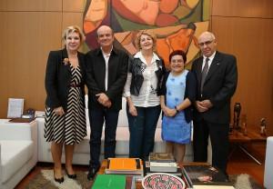 Ministra Marta Suplicy, Geraldo Gegê, secretária Setembrina, deputada Iara Bernardi e o Reitor do IFSP Eduardo Antonio Modena.j