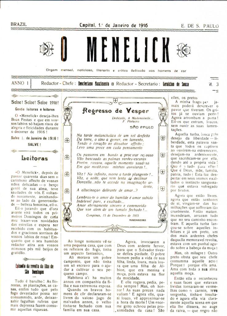 O Menelick página 1