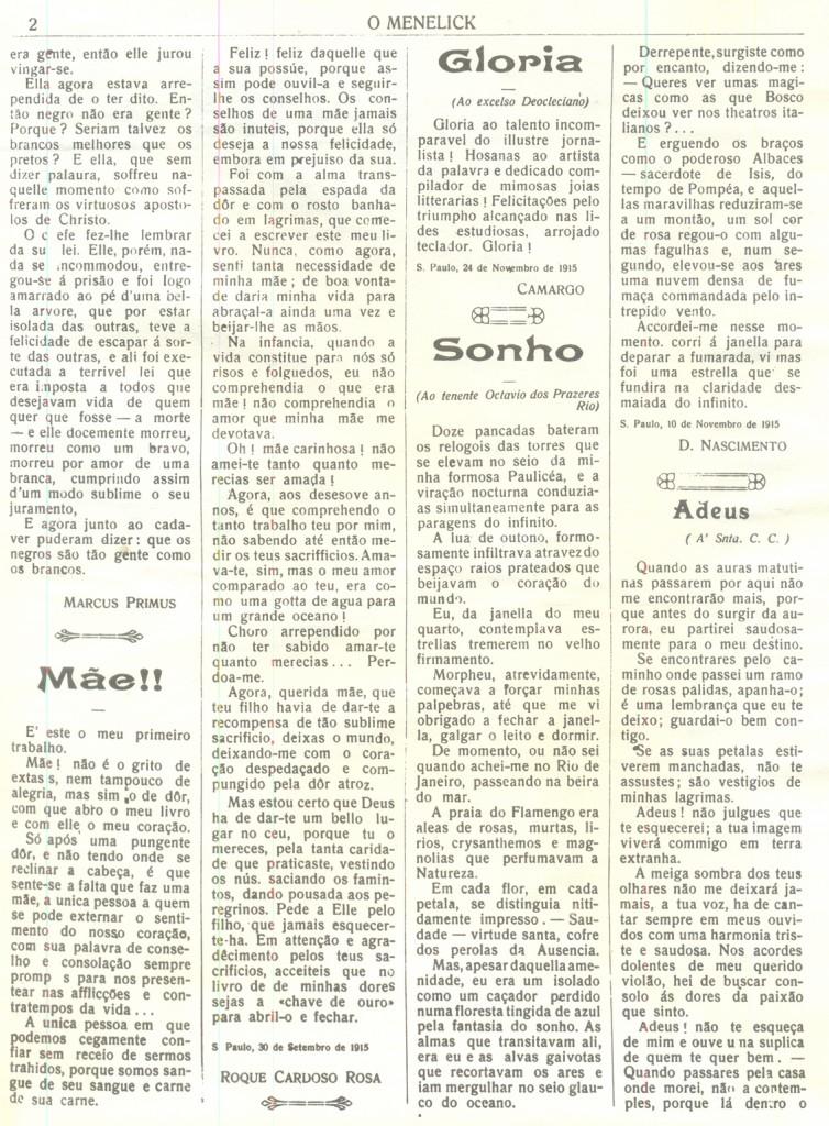 O Menelick página 2