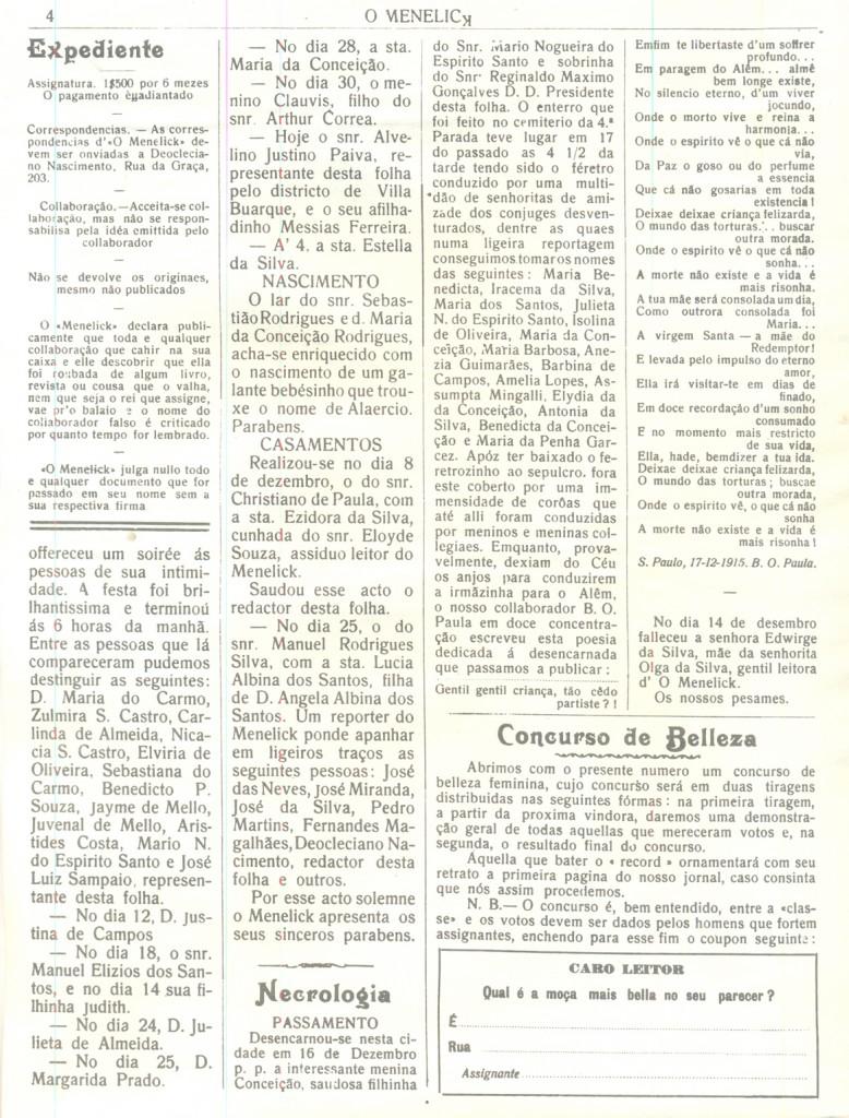 O Menelick página 4