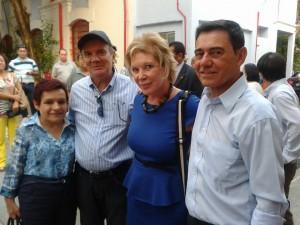 Secretária-Setembrina-Oliveira-vice-prefeito-Geraldo  Almeida ministra Marta Suplicy e o maestro João Carlos Kuntz.