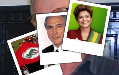 Emílio Lisboa, Dilma, Temer e MST