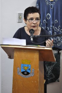 A secretária Setembrina  Oliveira comemorou a realização da reunião em Itapeva.