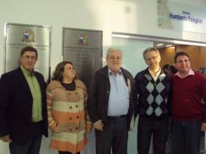 Saci, Rose, Natalini, Giriboni, e o vereador da câmara de Angatuba Akamilton Gomes de Almeida (PR)