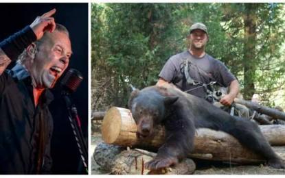 Envolvimento de vocalista do Metallica com caça aos ursos revolta população mundial