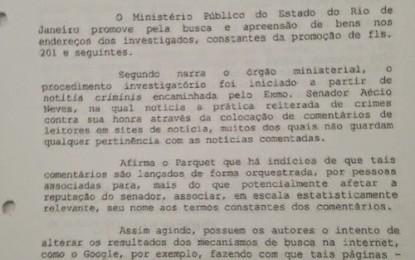 Truculência tucana- Por ação judicial de Aécio, polícia do RJ se ocupa perseguindo jornalista em vez de combater tráfico de drogas