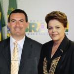 João Luiz, em foto montada por ele, com Dilma Roussef.