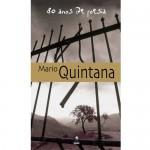 """""""80 anos de poesia"""" (  )- Mário Quintana. O livro abrange os 80 anos de atividade poética do autor, portanto, seus principais livros - """"A rua dos Cataventos"""" (1940), """"Baú de espantos"""" (1986), """"Sapato florido"""" (1948), """"Espelho mágico"""", """"O aprendiz de feiticeiro"""" (1950) """"Caderno H"""" (1945-1973), """"Apontamentos de história sobrenatural"""" (1976) e """"Nova antologia poética"""" (1981-1985). A seleção, a cronologia e a bibliografia ficaram a cargo da organizadora da coleção; a fixação de texto, de Lúcia Rebello e Suzana Kanter; e a elucidativa apresentação, de Maria do Carmo"""