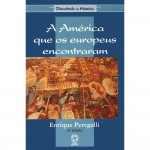 """""""A América que os europeus encontraram"""" (    )- Enrique Peregalli. A America que os Europeus encontraram, trata-se de um texto no qual o autor, aponta fatos, a America passa a ser o sujeito e os europeus tornam-se o objeto, ao afirma tal ponto de vista, entende-se que o autor acredita na idéia de que com a palavra """"descobrimento"""", nos remete de que os povos da America não tinham uma historia antes dos europeus chegarem a America. Iremos abordar nos parágrafos seguintes tais pontos. Os conquistadores espanhóis talvez tenham protagonizado o maior choque de civilizações da história da humanidade. Causando assim um grande genocídio na historia das Américas, desse encontro grandioso temos inúmeros relatos contados a partir da visão européia do mundo. Mas o conhecimento mais aprofundado sobre os povos pré-colombianos exige muito mais do que um simples olhar sobre esses relatos. Enrique Peregalli, uruguaio, é formado em Filosofia pelo Instituto Filosófico e Teológico do Uruguais e em História pela USP. Está radicado no Brasil há muitos anos."""