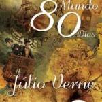 """""""A Volta ao Mundo em 80 Dias"""" (1873)- Julio Verne.  A obra retrata a tentativa do cavalheiro inglês Fileas Fogg e seu valete, Passepartout, de circum-navegar o mundo em 80 dias. É considerada uma das maiores obras da literatura mundial, tendo inspirado várias adaptações ao cinema e ao teatro.Fíleas Fogg é um senhor inglês da Era Vitoriana, um tanto quanto solitário e sereno, que mora em Londres e tem uma rotina inalterável: acorda sempre no mesmo horário, faz a barba, toma café da manhã e parte para o Reform Club, onde passa o restante do dia. Lá, Fogg  almoça e lê os principais jornais da capital inglesa. À noite, reúne-se com os colegas para a tradicional partida de uíste jogo de cartas para duas duplas (ancestral do Bridge) e para comentar os assuntos do dia. À meia-noite, pontualmente, volta para casa. E assim se segue até o fatídico dia da aposta. Júlio Verne ( Nantes, 8 de fevereiro de 1828 / Amiens, 24 de março de 1905), escritor francês, considerado por críticos literários o precursor do gênero de ficção científica, tendo feito predições em seus livros sobre o aparecimento de novos avanços científicos, como os submarinos, máquinas voadoras e viagem à Lua. Até hoje Júlio Verne é um dos escritores cuja obra foi mais traduzida em toda a história, com traduções em 148 línguas, segundo estatísticas da UNESCO, tendo escrito mais de 100 livros."""