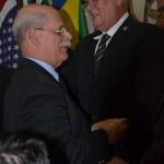 O presidente Cláudio Béquis Araújo e o vice-presidente Fernando Manfredini.
