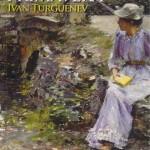 """""""Águas da Primavera"""" (1872)- ivan Turgueniev. """"Águas da Primavera"""" foi escrito por Turguénev entre 1870 e 1871. É a história de Dmítri Sánin, um jovem que se apaixona pela primeira vez quando visita a cidade de Frankfurt. Acaba por vender os seus bens na Rússia para trabalhar na pastelaria da família da sua amada. Mas no decurso de uns negócios, é atraído por uma mulher mais velha e sofisticada. Ivan Sergeievitch Turgueniev (9 de novembro de 1818/ 3 de Setembro de 1883) foi um romancista e dramaturgo russo. Apesar de que sua reputação como autor tenha decaído durante o último século, o seu romance """"Pais e Filhos"""" é ainda considerado uma das obras mestras da ficção russa do século 19."""