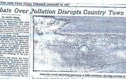 O dia em que Angatuba foi notícia no New York Times