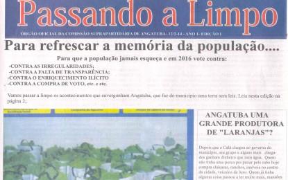 """Oposição angatubense se reúne e lança o informativo """"Passando a Limpo"""""""