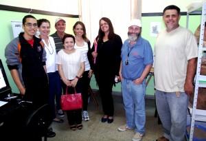 Técnicos do IPHAN durante a visita ao Museu Arqueológico de Itapeva.