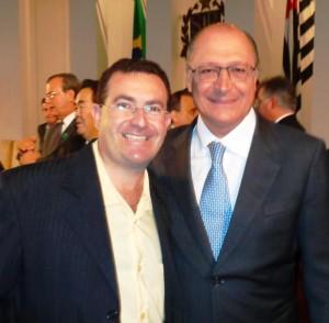 Alckimin com o vice-prefeito de Angatuba João Luiz Meira (PSDB)