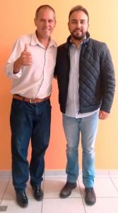 Paulo Delgado, à esquerda com o deputado Alexandre Pereira.