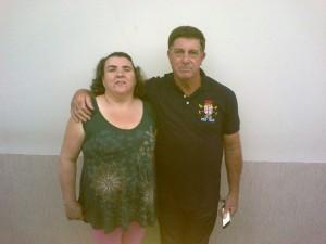 Rose e o marido Pedro Saci.