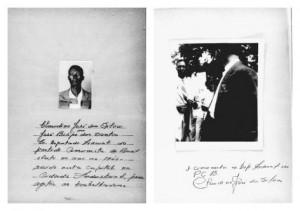 Ficha policial de Claudino em Minas Gerais | Arquivo da Fundação Maurício Grabois