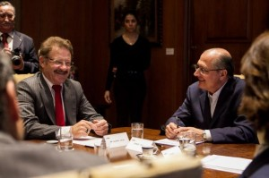Fattori (à esquerda)  com Alckmin.