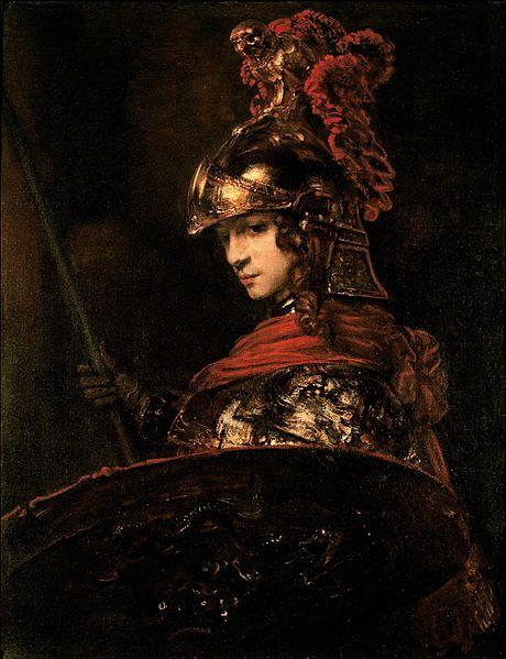 """Pallas Athená"", obra de 1655, de Rembrandt."