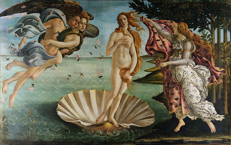 """""""O Nascimento de Vênus"""" (1483) , do pintor italiano Sandro Boticelli (1445-1510)."""