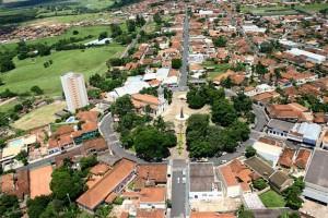 Monte Azul Paulista, vista aérea.