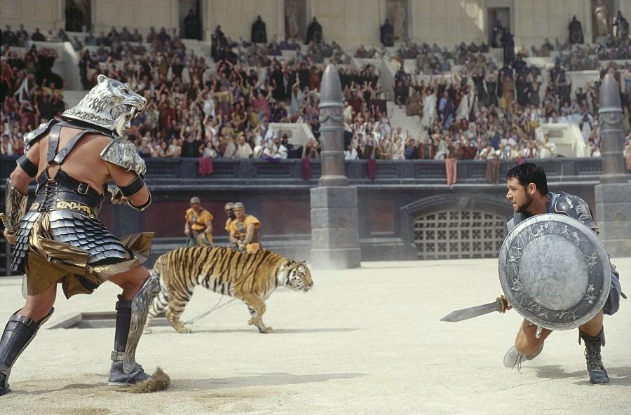 """Cena do filme """"O Gladiador"""""""
