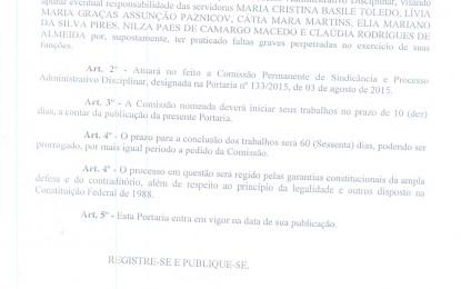 """Funcionária """"ferra"""" colegas de trabalho e comissão de sindicância da prefeitura de Angatuba notifica """"as ferradas"""""""