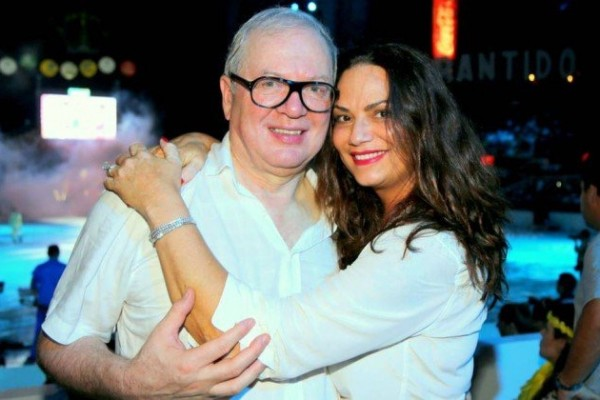 Luiza e o marido em dias melhores