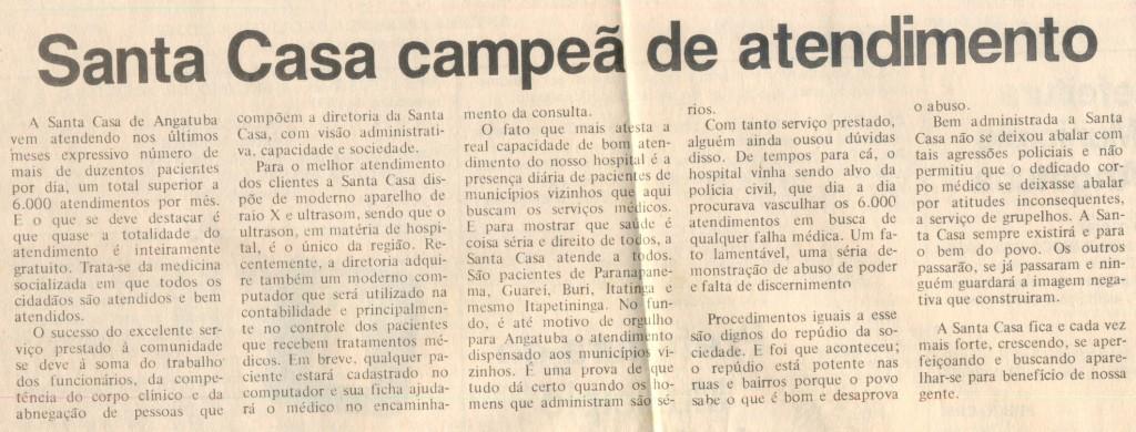 Santa Casa jornal