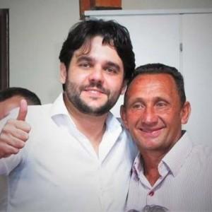 Aislan e seu vice Luiz Rodrigues Fogaça, o Ico.