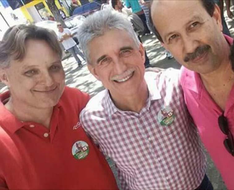 Márcio Abdelnur, Dr.Luiz e Milton Monti ao centro