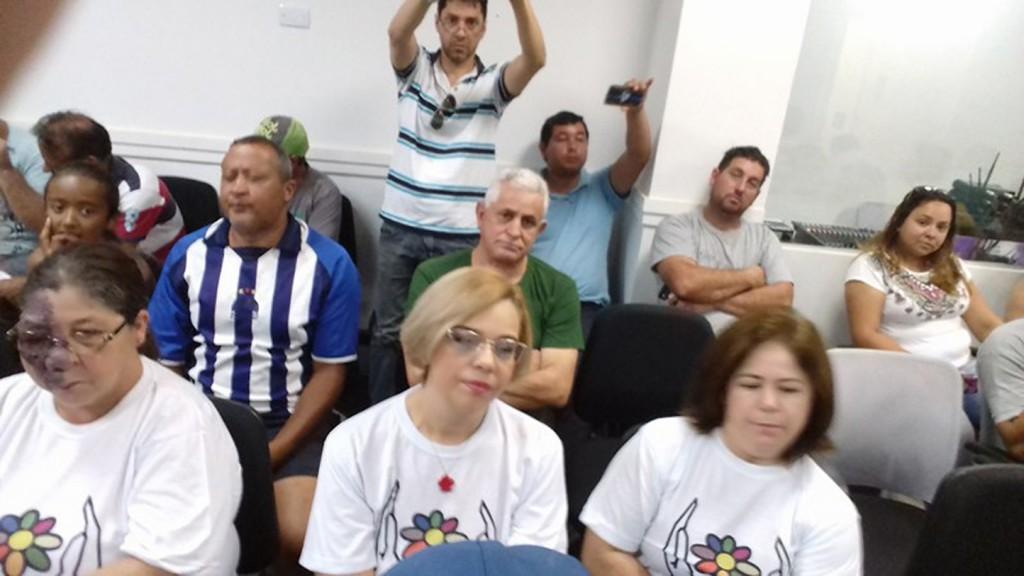 Parte do público presente à audiência