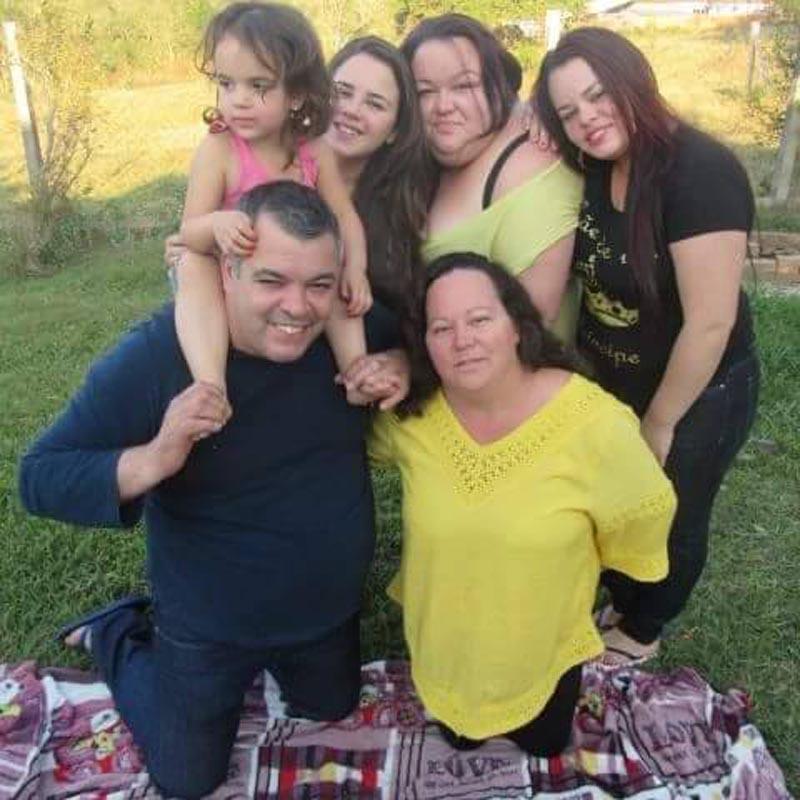 José Nilson e a familia