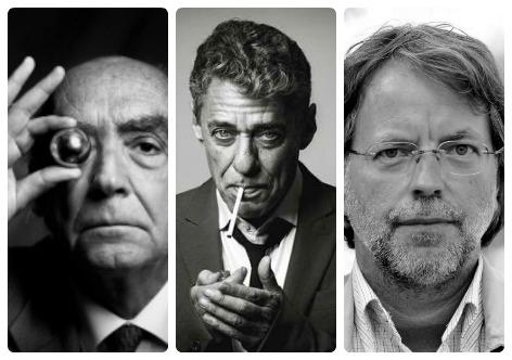 José Saramago, Chico Buarque e Mia Couto, três mestres da língua portuguesa, cada um em seu país: Portugal, Brasil e Moçambique, respectivamente