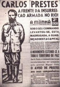 Cartaz da ANL destacando o líder Luiz Carlos Prestes