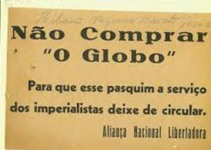 """Mensagem da ANL contra """"O Globo"""""""