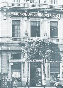 Sede da ANL na avenida Rio Branco, no Rio de Janeiro, nos anos 30.