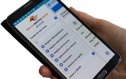 Aplicativo com dados de todos os municípios paulistas é lançado pela Seade