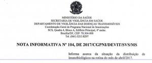 VACINA PENTAVALENTE 1